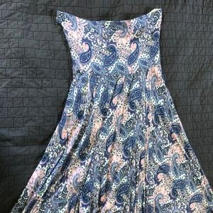 Strapless Paisley Dress from Express